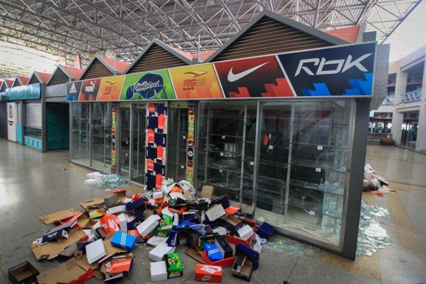 Photo showing damage to a store in the Ciudad Chinita mall in Maracaibo, Venezuela, on March 13, 2019, after a wave of looting. EFE-EPA