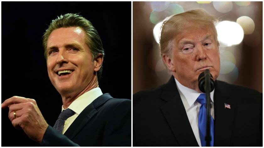 L.A. voters give Gov. Gavin Newsom high marks for his coronavirus performance, but lack confidence in President Trump's response.