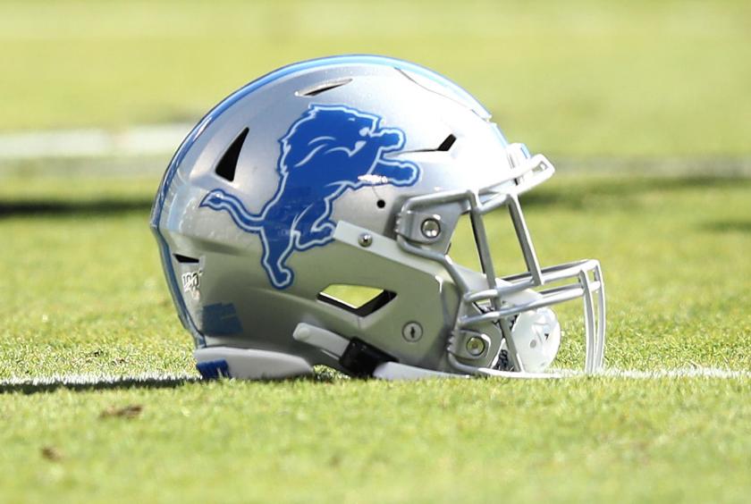 Detroit Lions helmet.