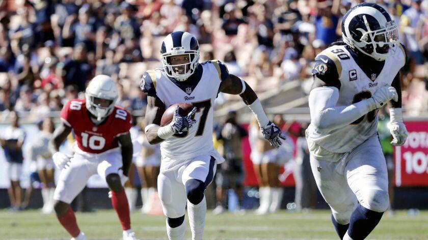 LOS ANGELES, CALIF. -- SUNDAY, SEPTEMBER 16, 2018: Los Angeles Rams defensive back Sam Shields (37)