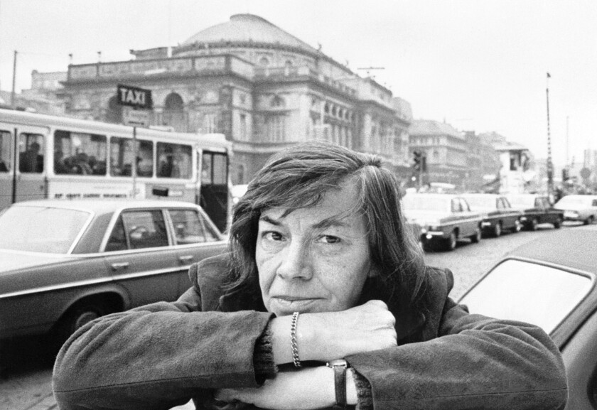 Author Patricia Highsmith in Copenhagen in November 1975.