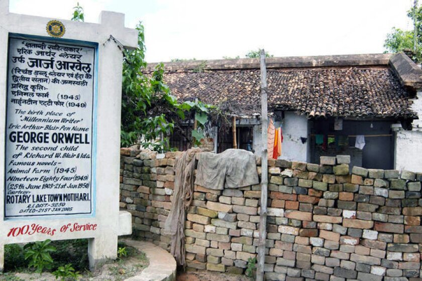 George Orwell's Indian birthplace dedicated to Gandhi; locals fume