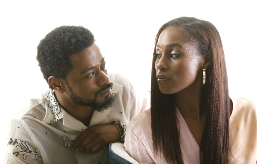 """""""The Photograph"""" stars Issa Rae and Lakeith Stanfield, seen here at the London West Hollywood Hotel on Feb. 4."""