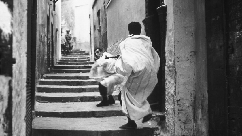 "A scene from Gillo Pontecorvo's ""The Battle of Algiers"" (1965)."