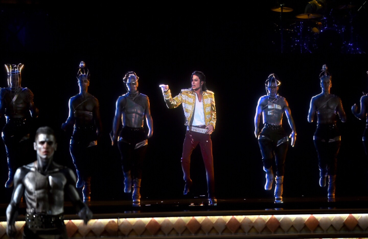 A holographic image of Michael Jackson performs onstage during the 2014 Billboard Music Awards at the MGM Grand Garden Arena in Las Vegas.