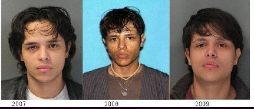Police released images of Ismael Raul Lopez, who is wanted in the death of Mir Madet Sahou. Photo: SDPD
