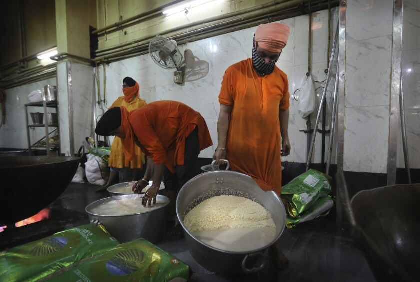 Virus Outbreak One Good Thing Sikh Kitchens