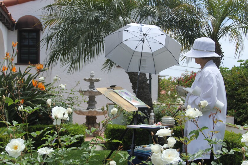 Artists will be painting in real time during the Laguna Beach garden tours May 2.