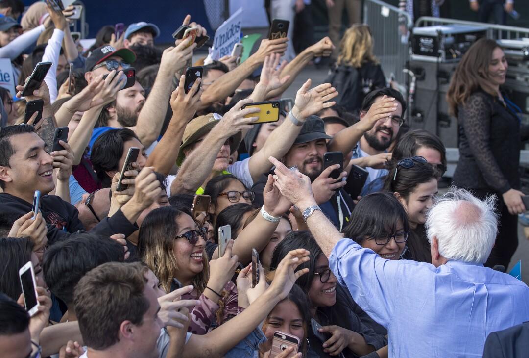 Bernie Sanders in Santa Ana