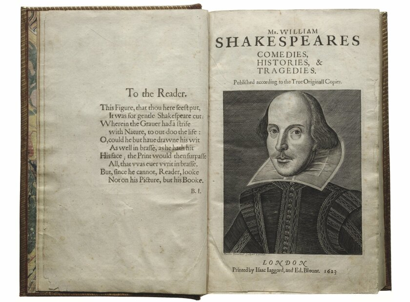 Shakespeare's First Folio is the center of a touring exhibition making its sole California stop in San Diego next year.