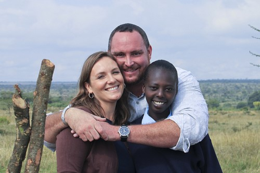 Jenni Doherty and Jason Doherty, co-founders of Daraja Academy in Kenya; Schola, a student at the school.