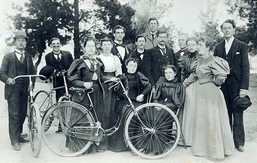 Class of 1897 USC with bicycles