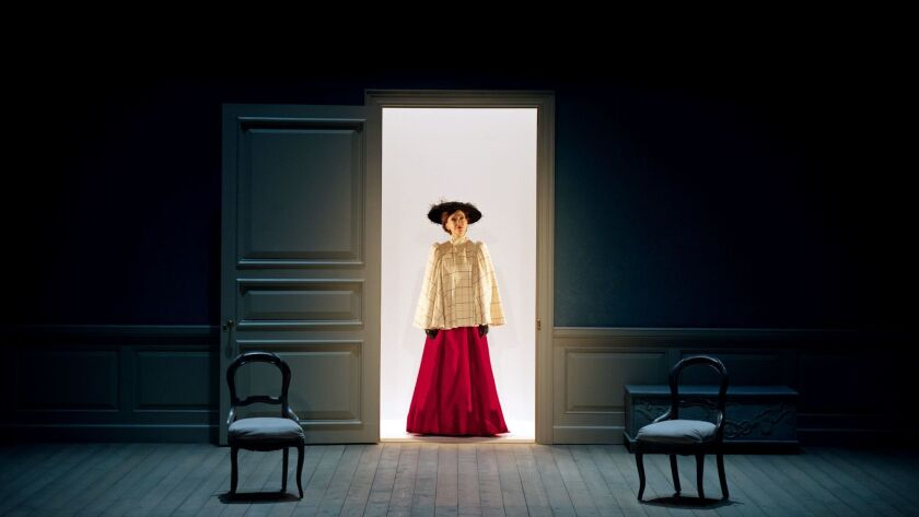 "Shannon Cochran as Nora in Lucas Hnath's ""A Doll's House, Part 2,"" at South Coast Repertory in Costa"