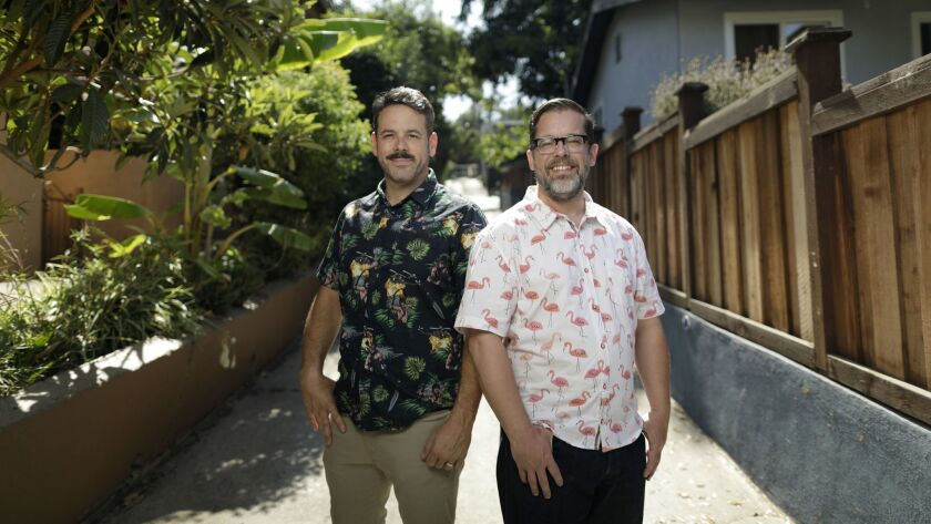 """Following a nationwide search, Silver Lake neighbors Billy Kheel, left, and Robert Mahar were chosen as contestants for the hit NBC show """"Making It."""""""