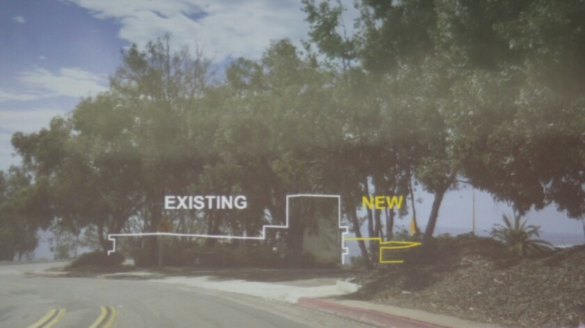 A mark-up of how the new addition would impact views from La Jolla Shores Drive