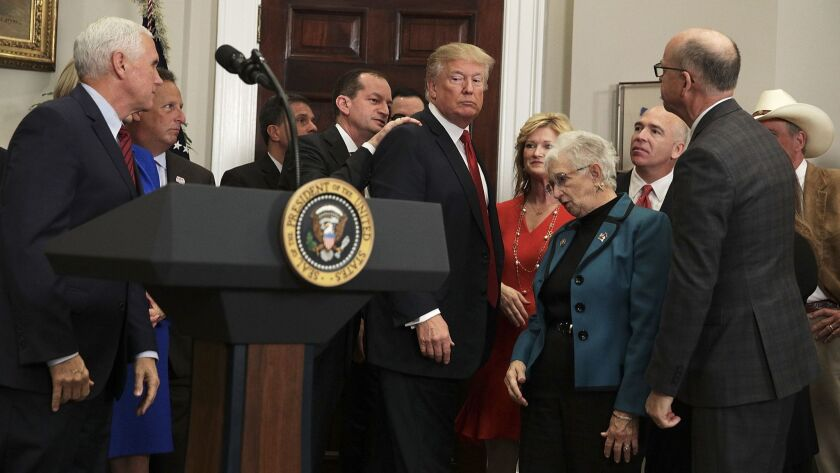After making remarks about his executive order on Obamacare Thursday, President Trump almost left the room without signing the document, until aides turned him around.