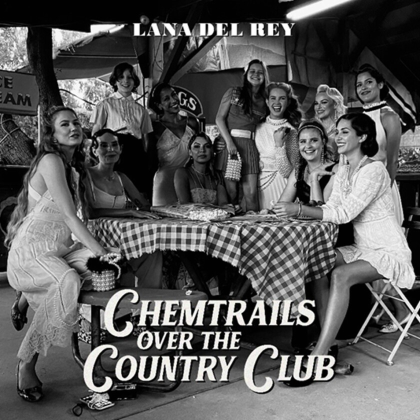 """This cover image released by Interscope Records and Polydor Records shows """"Chemtrails Over the Country Club"""" by Lana Del Rey. (Interscope Records and Polydor Records via AP)"""