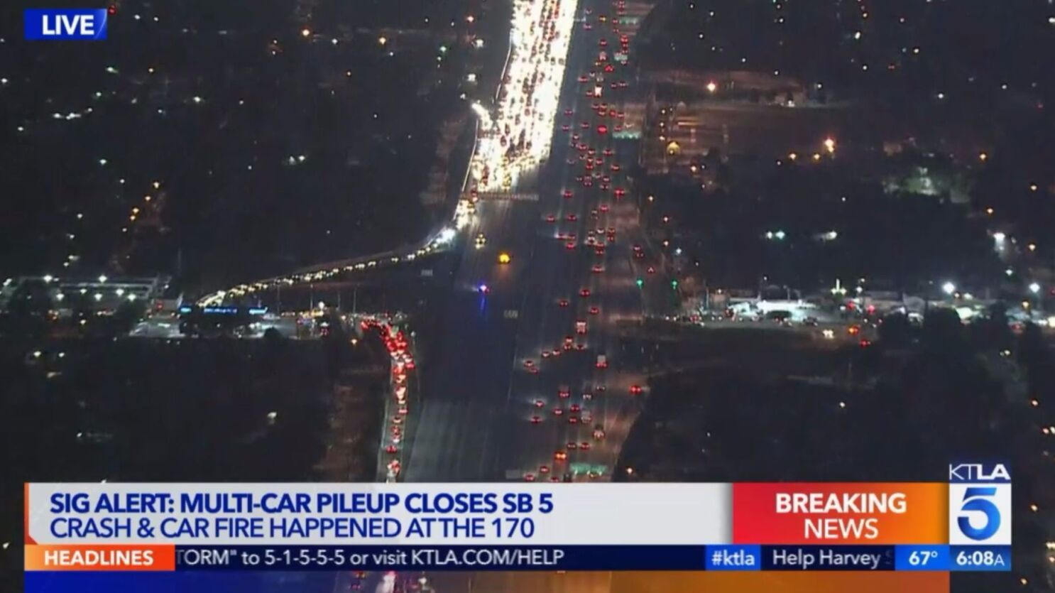 chp begins reopening lanes on southbound 5 freeway after