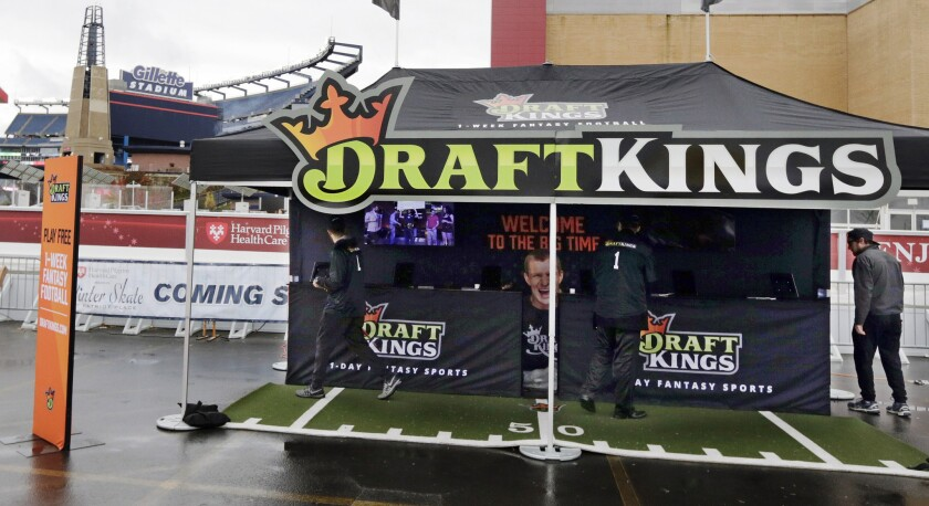 DraftKings promotion tent