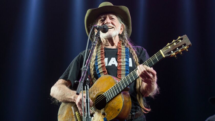 Willie Nelson performs on the second day of the Stagecoach festival in Indio on Saturday, which happened to be his 84th birthday.