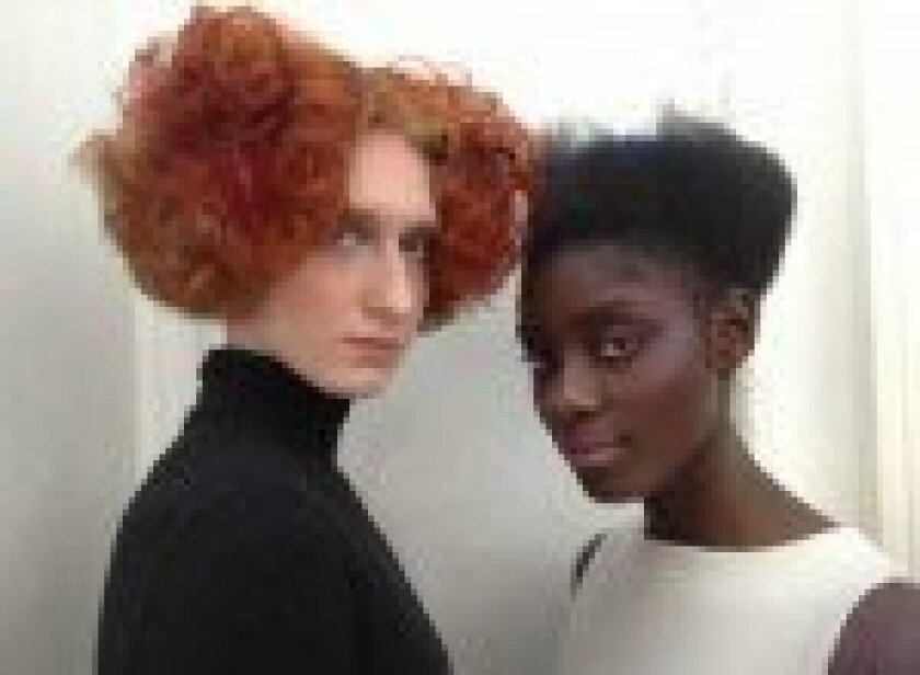 These models sport the architectural design cuts and are the Muses' models for Sassoon and Vogue magazine.