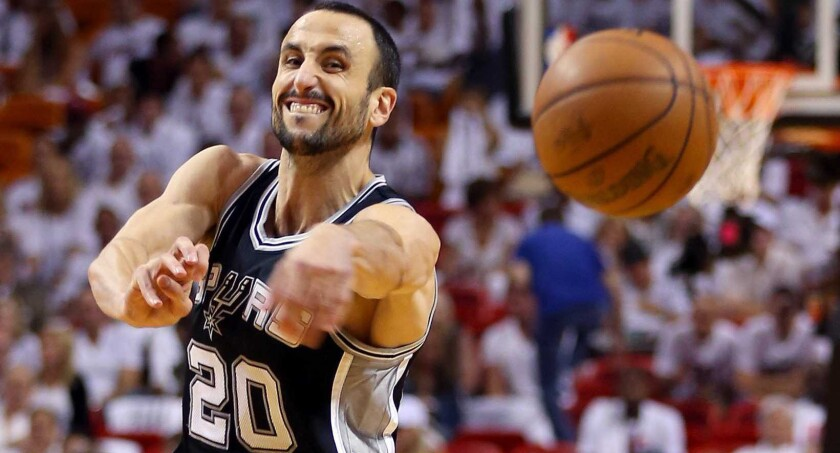 Manu Ginóbili, estrella del seleccionado argentino y de los Spurs de San Antonio.