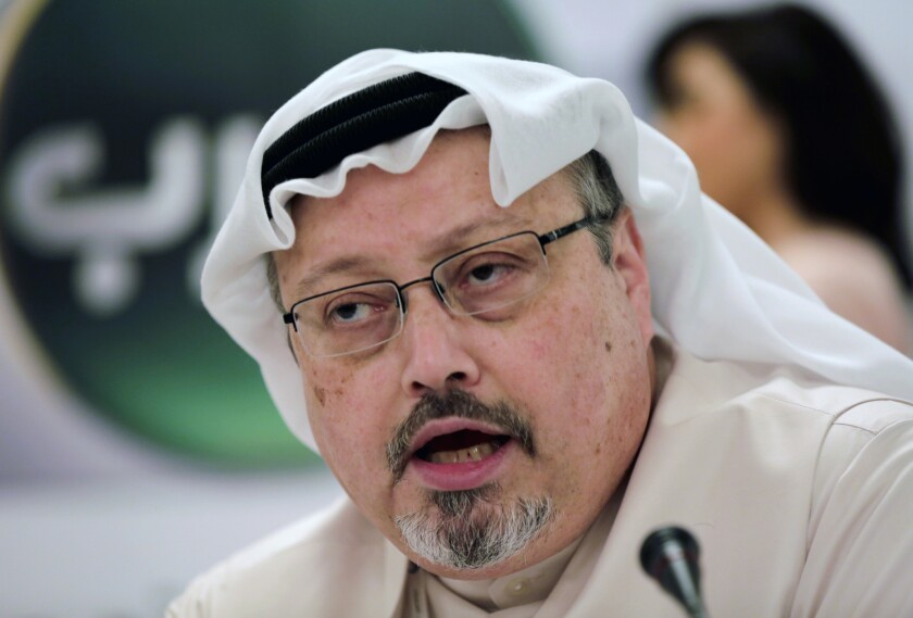 Journalist Jamal Khashoggi, shown in 2014, was killed at the Saudi Consulate in Istanbul in 2018.