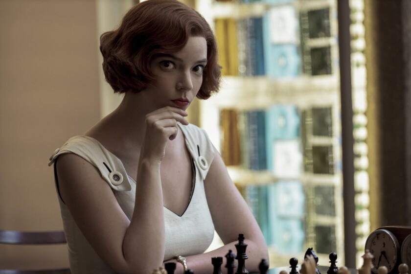 Anya Taylor-Joy as Beth Harmon in 'The Queen's Gambit'