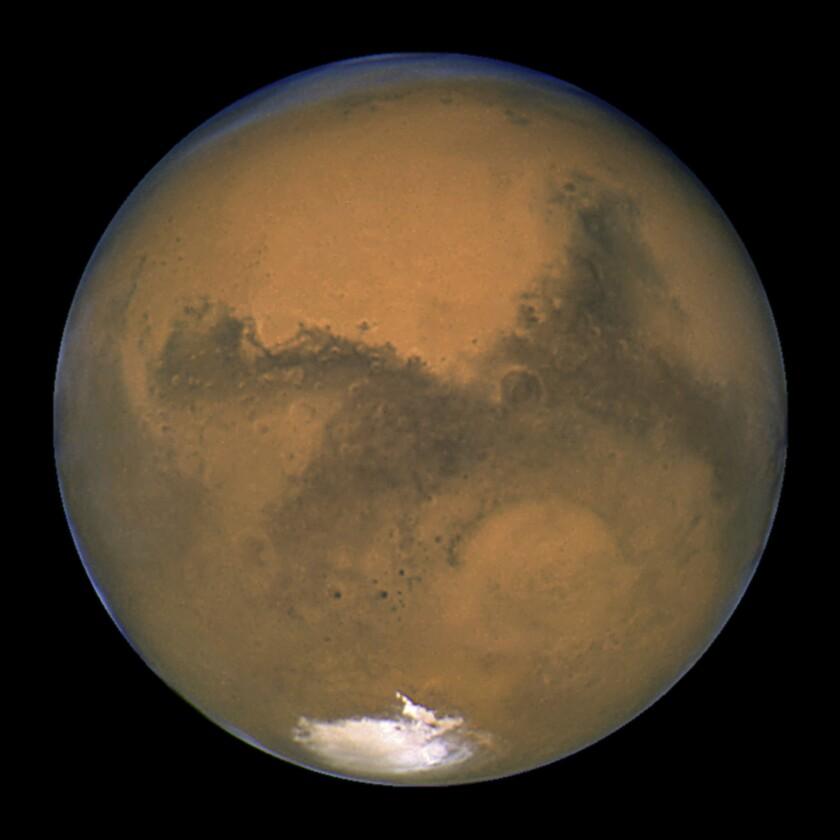 En esta imagen del 26 de agosto de 2003 cortesía de la NASA se ve Marte