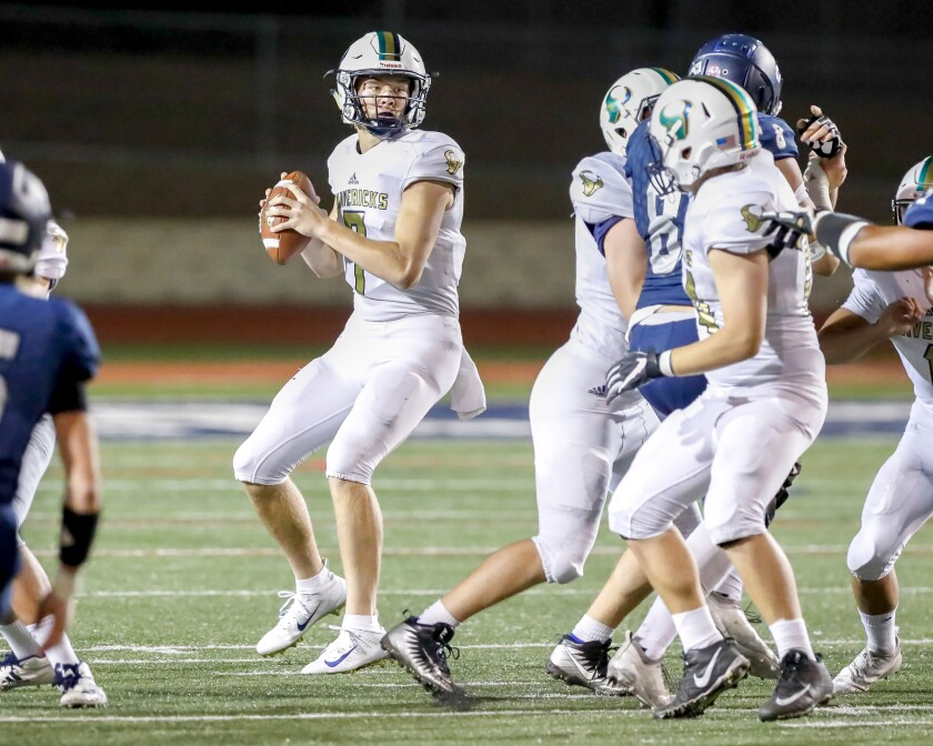 La Costa Canyon QB Marshall Eucker, a 6-foot-5 senior, will need to put the ball in the air against Oceanside.