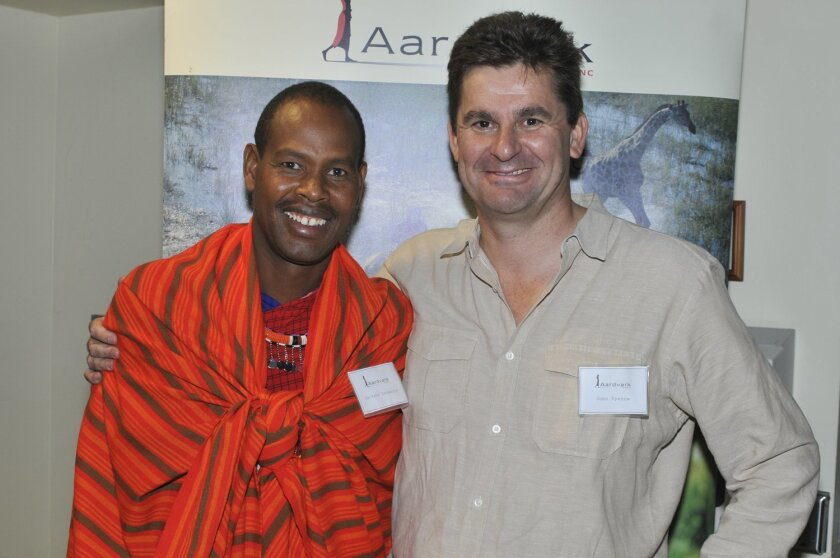 Safari guide Jackson Looseyia and John Spence, founder of Aardvark Safaris.
