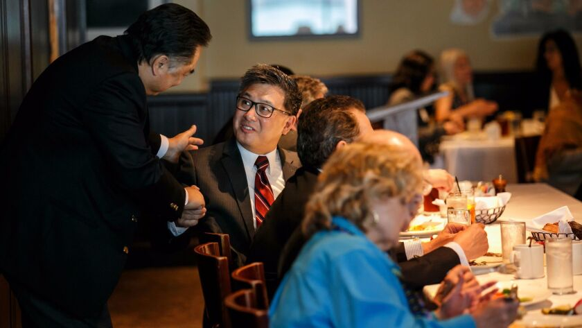 State Treasurer and Democratic gubernatorial candidate John Chiang attends the Los Angeles Current A