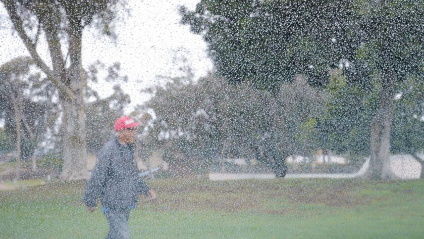 Rain light but it was most in San Diego in 6 weeks - The San