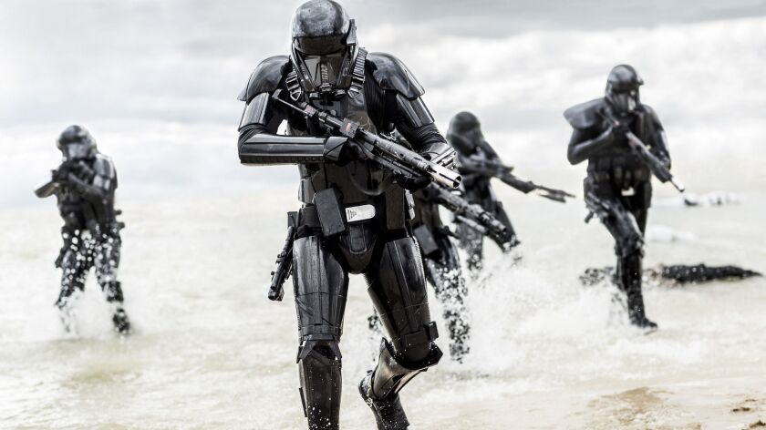 """Death Troppers in """"Rogue One: A Star Wars Story"""" Credit: Jonathan Olley / Lucasfilm"""
