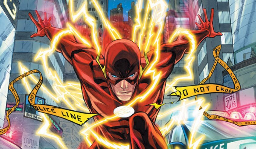 """The Flash, drawn here by Francis Manapul, will make some appearances on the CW's """"Arrow"""" next season, but he'll start as his not-so-fast alter-ego, Barry Allen."""