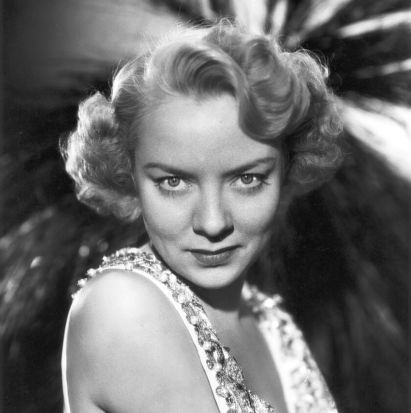 "Audrey Totter was a leading lady of 1940s film noir who starred as a tough-talking dame in ""Lady in the Lake,"" ""The Set-Up,"" ""High Wall"" and ""Alias Nick Beal,"" above in 1949."