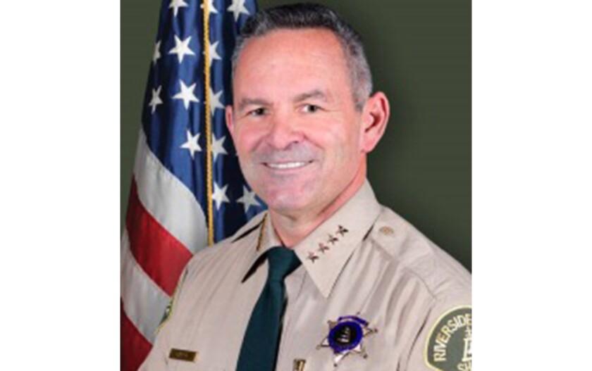 Riverside County Sheriff Chad Bianco