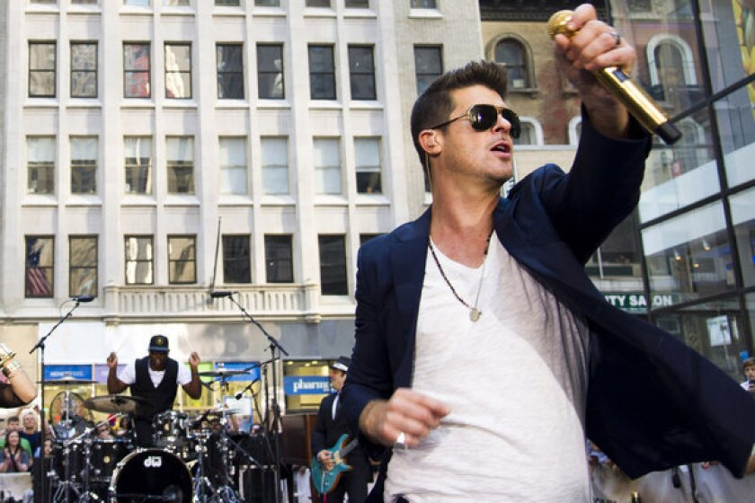 """Robin Thicke, performing on NBC's """"Today"""" show."""
