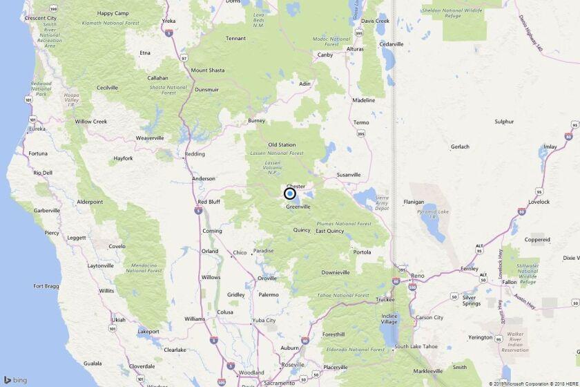 Earthquake: 3.3 quake strikes near Lake Almanor Peninsula, Calif.