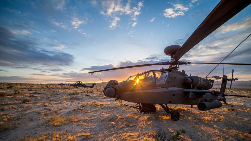Apache Under Mojave Sunset