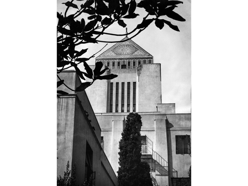 Nov. 9, 1955: City of Los Angeles Central Public Library at 630 W. 5th St. This photo was published