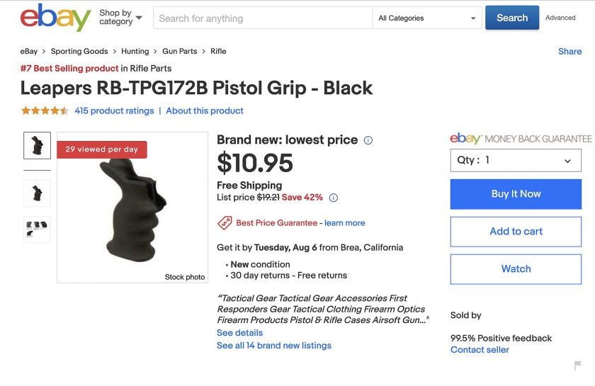 EBay bans assault rifle parts  Here's how sellers get around