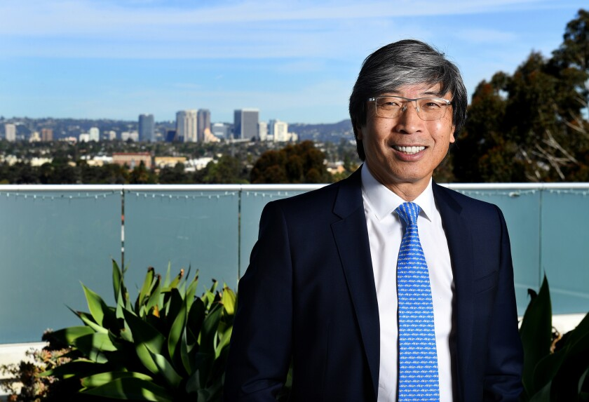 CULVER CITY-CA-MARCH 19, 2018: Dr. Patrick Soon Shiong is photographed at his office in Culver City