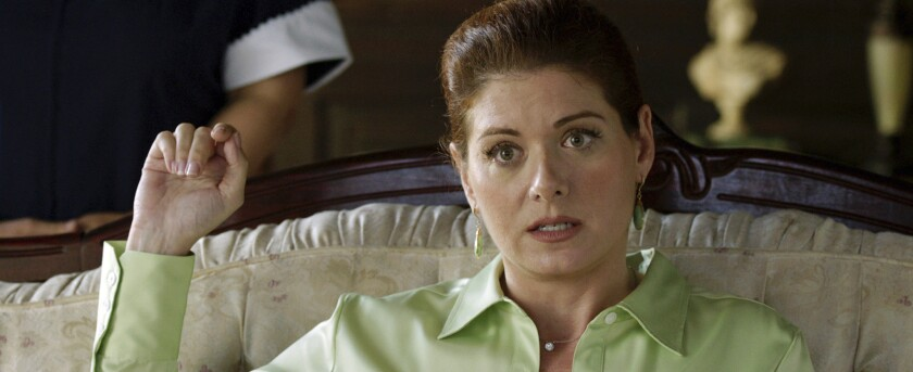 """Debra Messing, shown in the 2014 movie """"Like Sunday, Like Rain,"""" has recently sparred with Susan Sarandon on social media over the presidential race."""