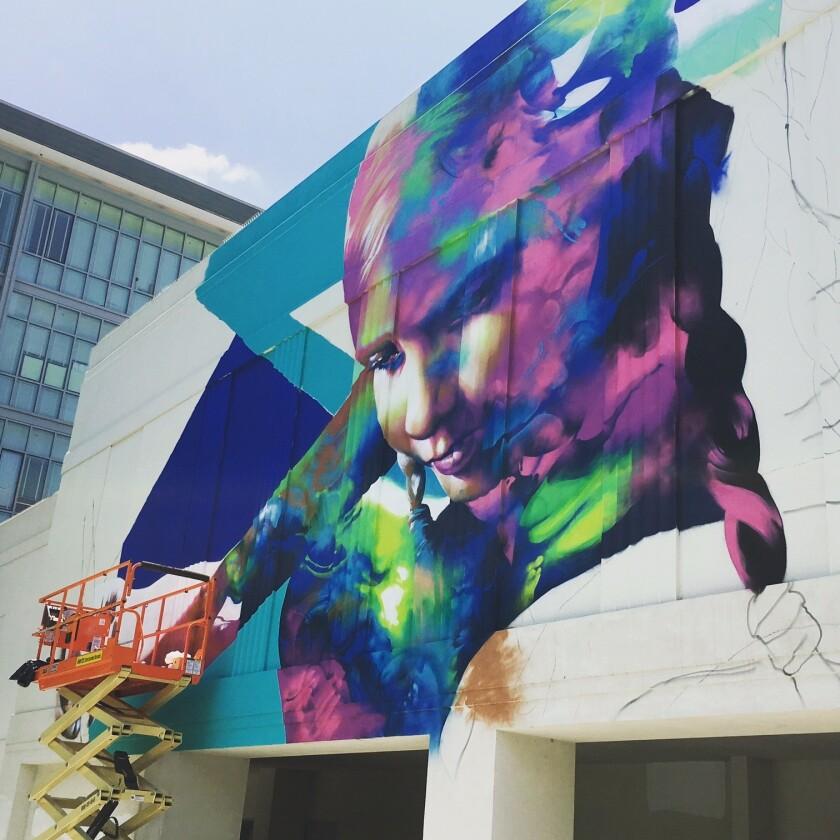 A new mural by L.A. artist Hueman.
