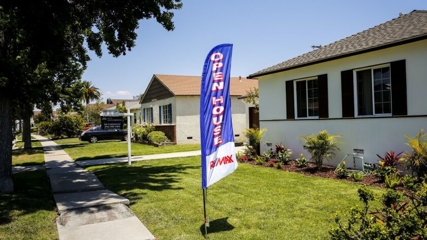 WESTCHESTER, CA.-- JUNE 7, 2015--An open house at the 7828 Midfield Ave., in the Westchester neighb