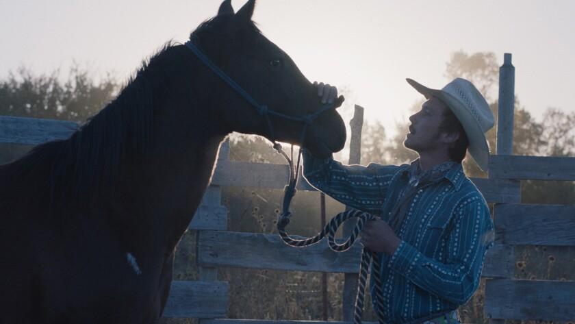 "Brady Jandreau in the movie ""The Rider."""