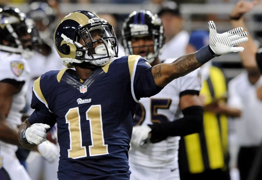 Tavon Austin was the Rams' leading receiver last season, catching 52 passes, five for touchdowns.