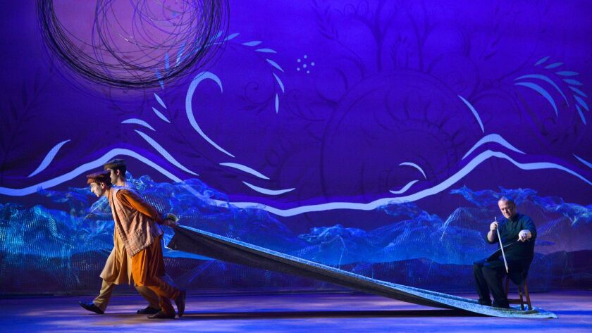 """A scene from the 2017 American Conservatory Theater production of """"A Thousand Splendid Suns."""" The Old Globe Theatre is staging the play in association with ACT."""