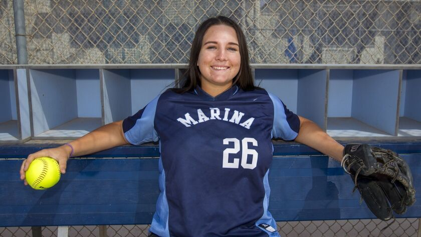Marina High School's Emily Rush is the Daily Pilot High School Female Athlete of the Week.